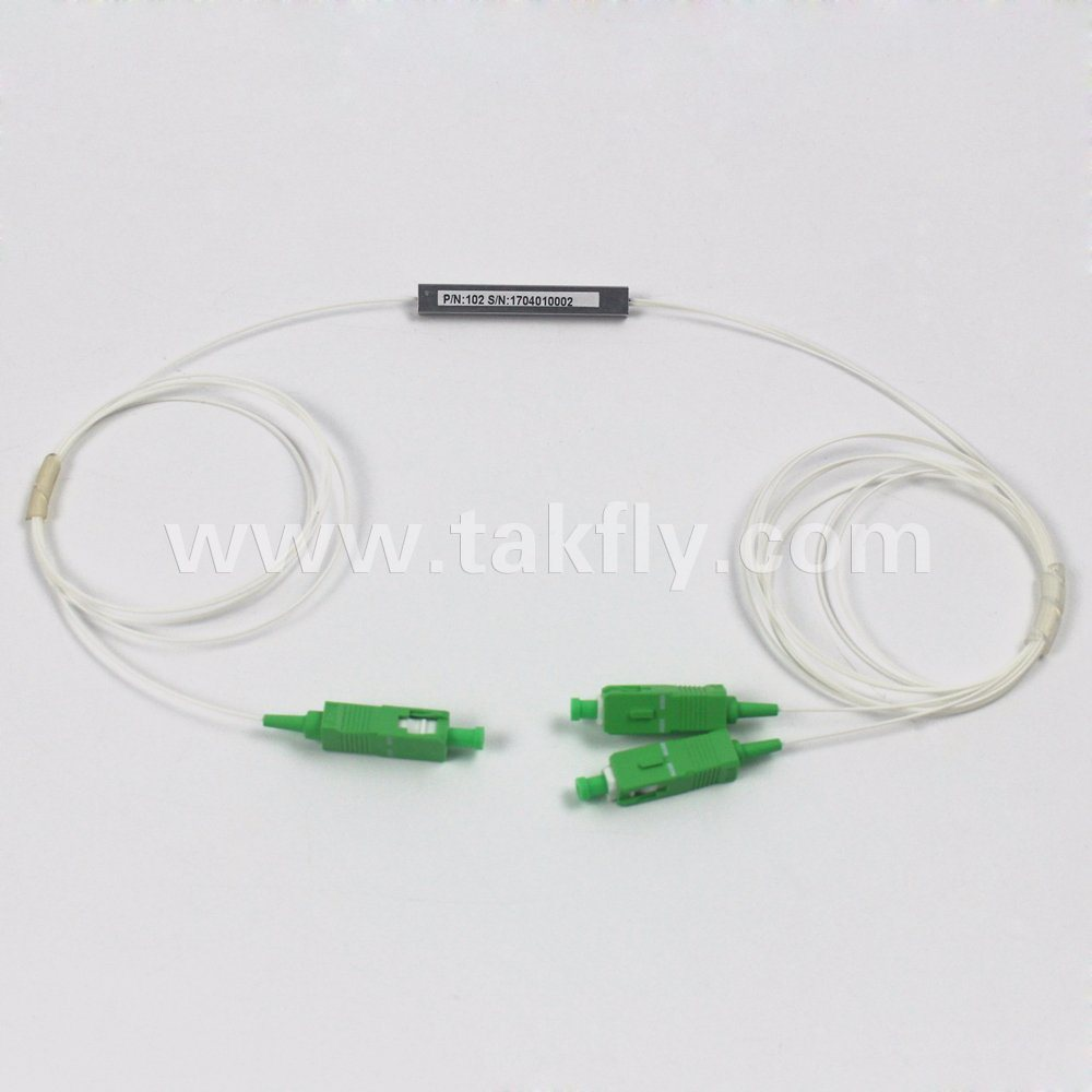 900um Steel Tube Sc/APC Connectors 1X2/4/8/16/32 Fiber Optic PLC Splitter