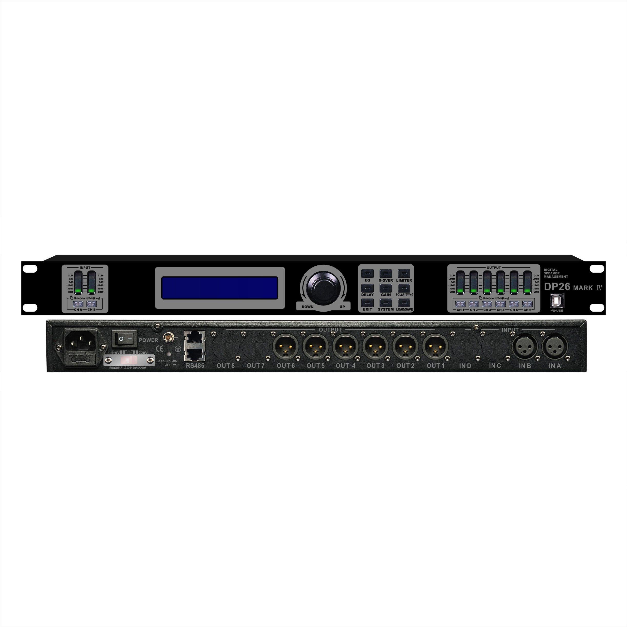 Dp-26 Professional Audio Power Amplifier Processor