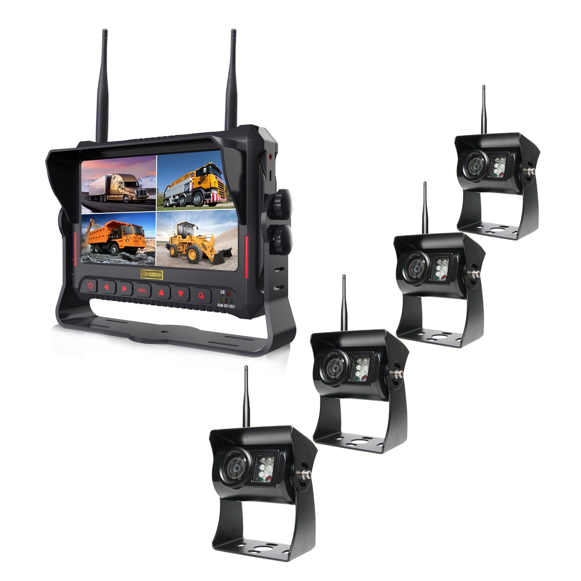 7inch Digital Wireless Recording Rear View System