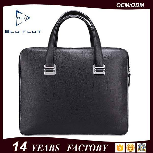 Custom Logo Fashion Bags Genuine Full Grain Leather Briefcase Handbags