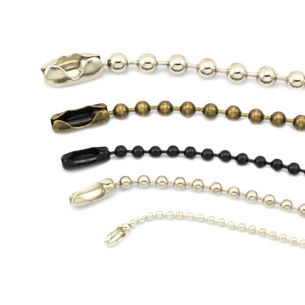 Fashion Metal Beaded Ball Chain