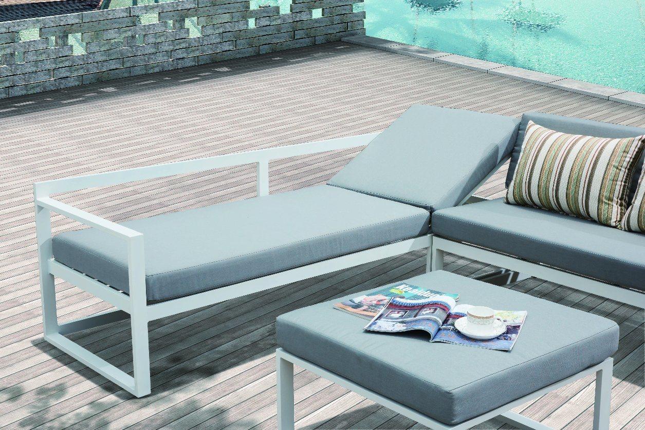 Patio Garden Home Hotel Office Joya Aluminum Lounge Outdoor Sofa (J678)