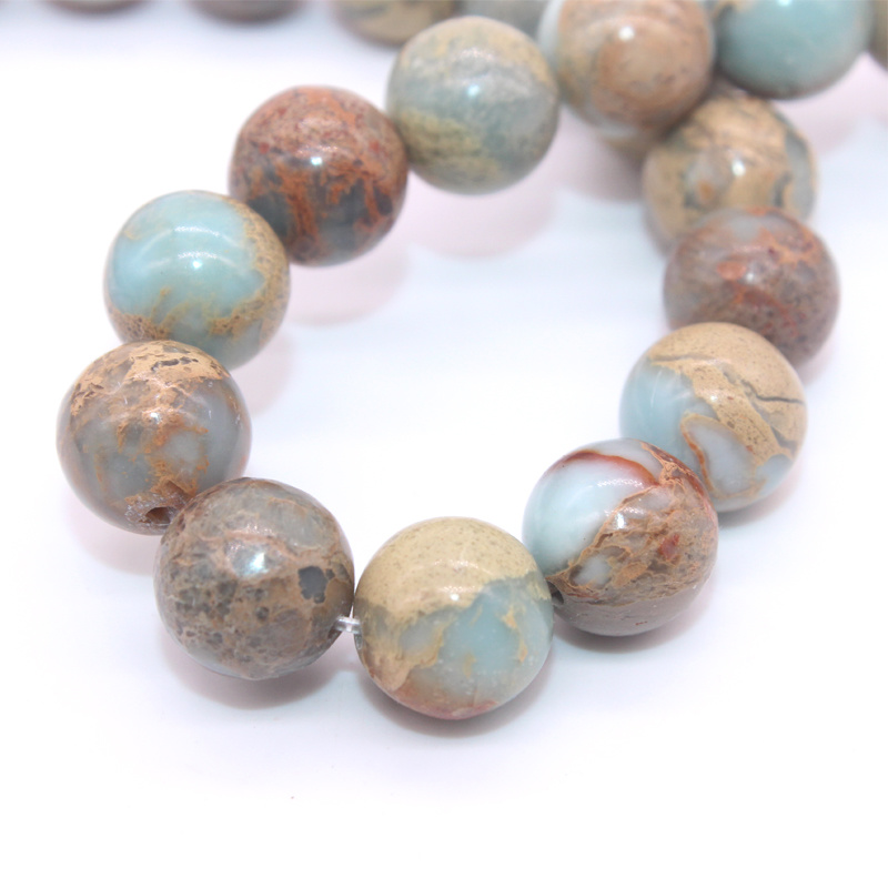 Szie 6 8 10 12 mm Healing Stone Shoushan Stone Wholesale Natual Starlight Gemstone