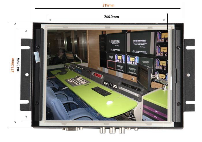 """12"""" Open Frame LCD Monitor for Gaming/POS/Medical Display"""