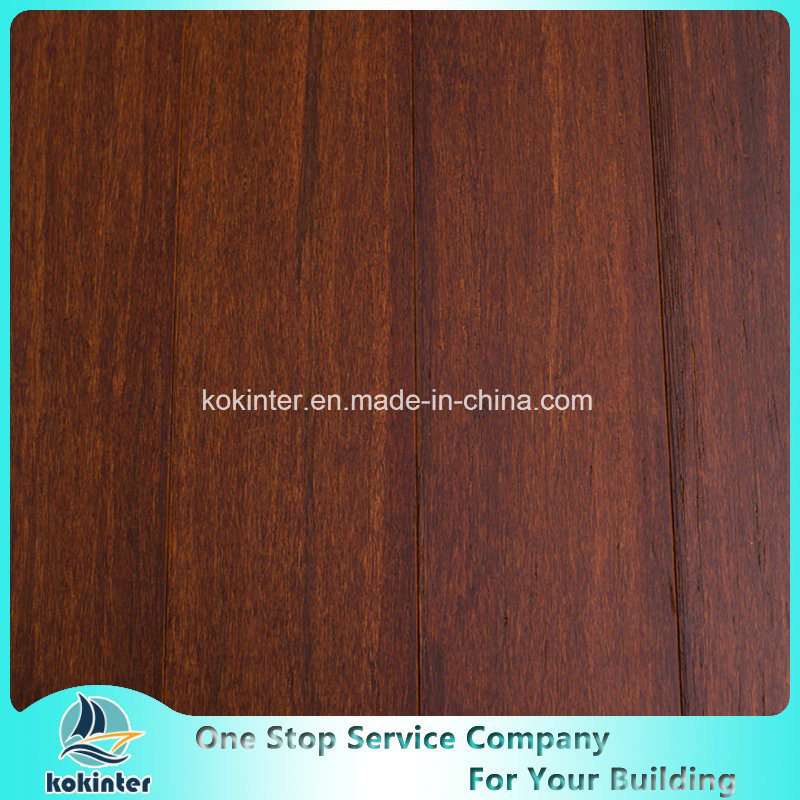 Cheapest Brushed Strand Woven Bamboo Flooring Indoor Use in Coffee Color and Super Quality