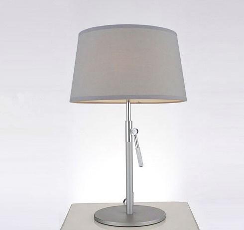 Wonderful Designer Modern Adjustable Bedroom Metal Desk Table Lamp Light in Black for Reading, with Fabric Shade