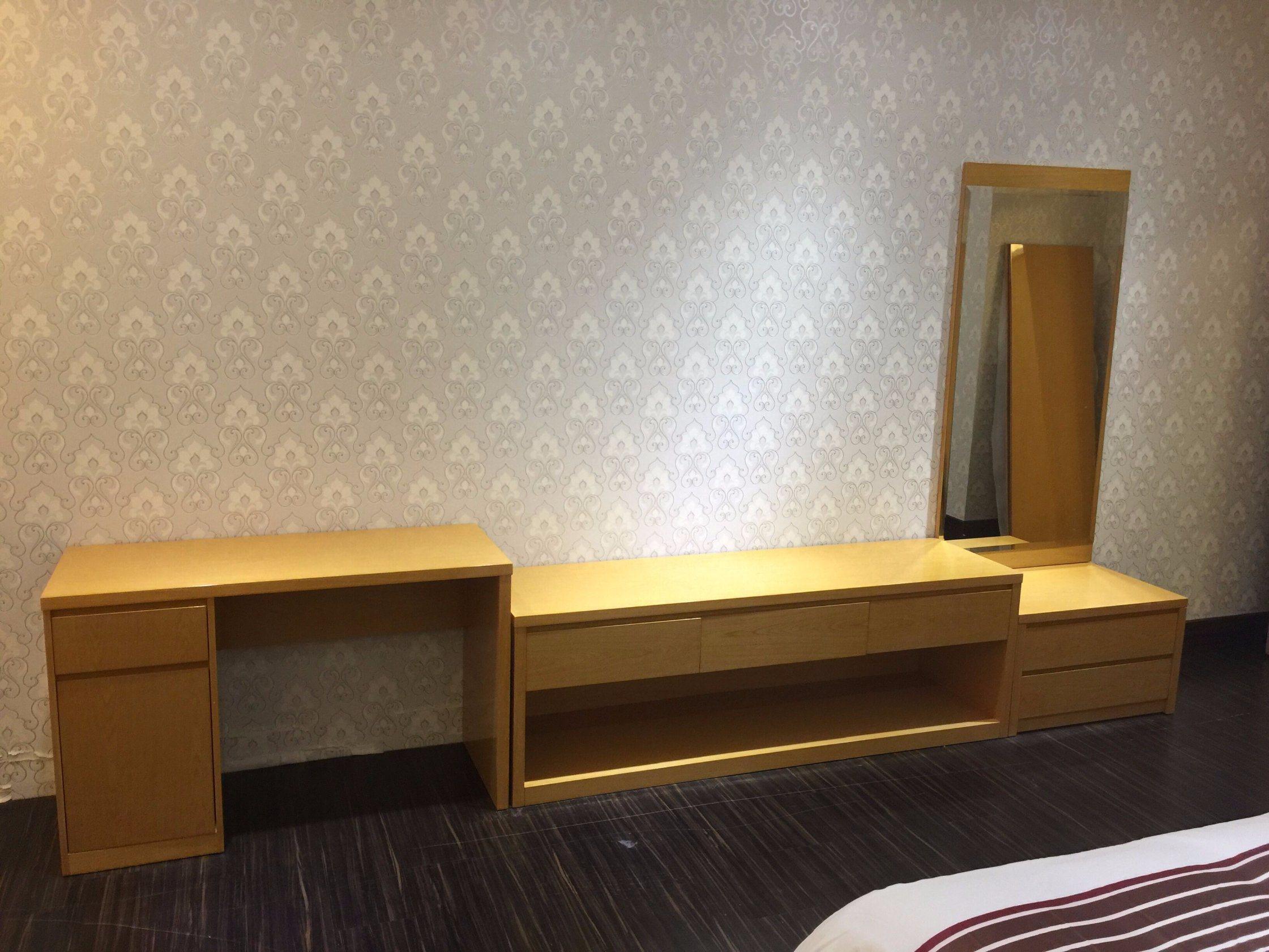 5 Star Hotel Modern Bedroom Furniture/Hilton Hotel Furniture/Standard Hotel Kingsize Bedroom Suite/Kingsize Hospitality Guest Room Furniture (KNCHB-01103)