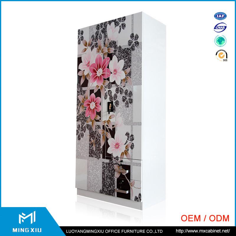 Chinese Supplier 3 Door Indian Bedroom Wardrobe Designs / Metal Storage Cabinet
