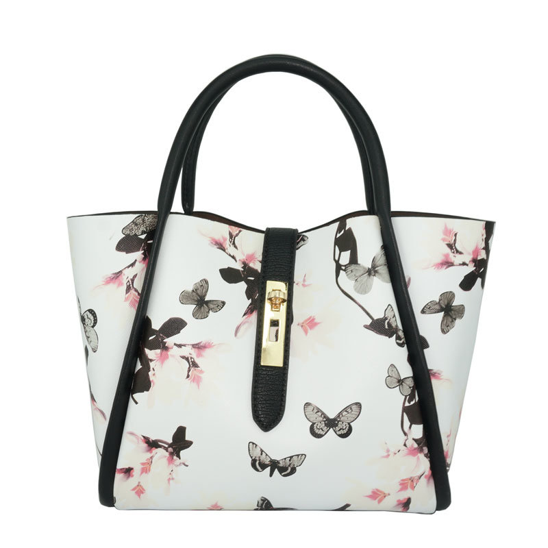 Women Flower Printed Designer Fashion Bag Shoulder Leather Lady Handbag