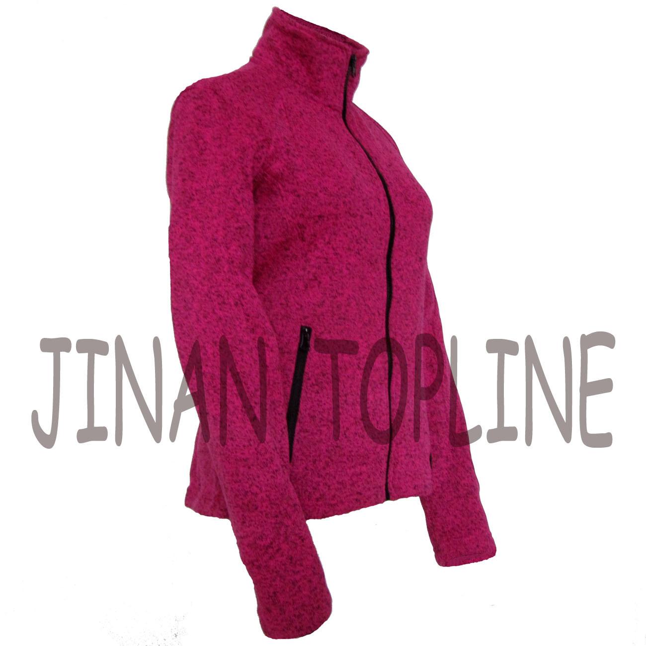 Women Fashion Long Sleeve Bicolour Micro Fleece Softshell Jacket