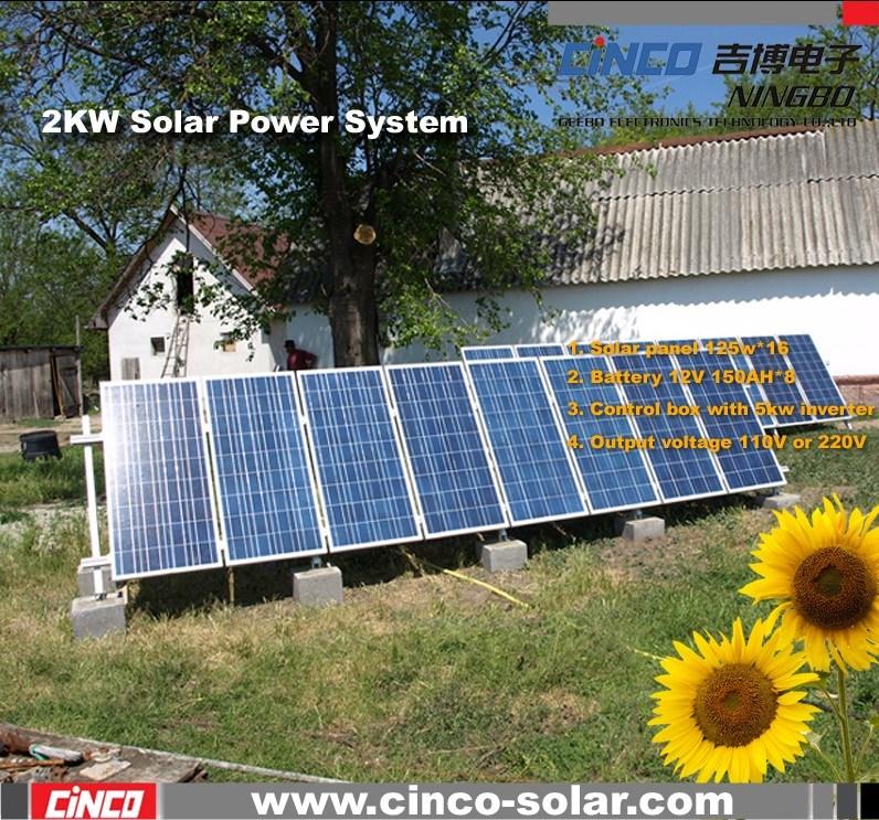 China Solar Power System 2000w Off Grid Solar Power