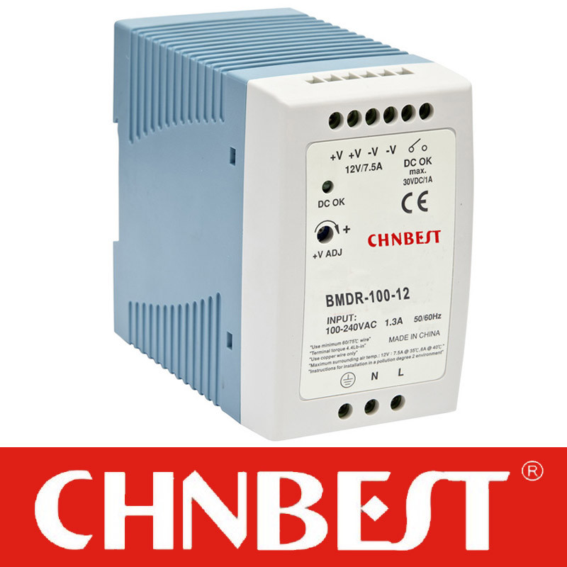15VDC 100W AC/DC DIN-Rail Power Supply (MDR-100-15)