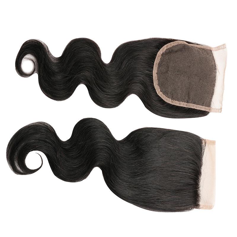 Human Hair Lace Closure Brazilian Virgin Hair Body Wave Lace Frontal Closure Brazilian Body Wave Lace Closure