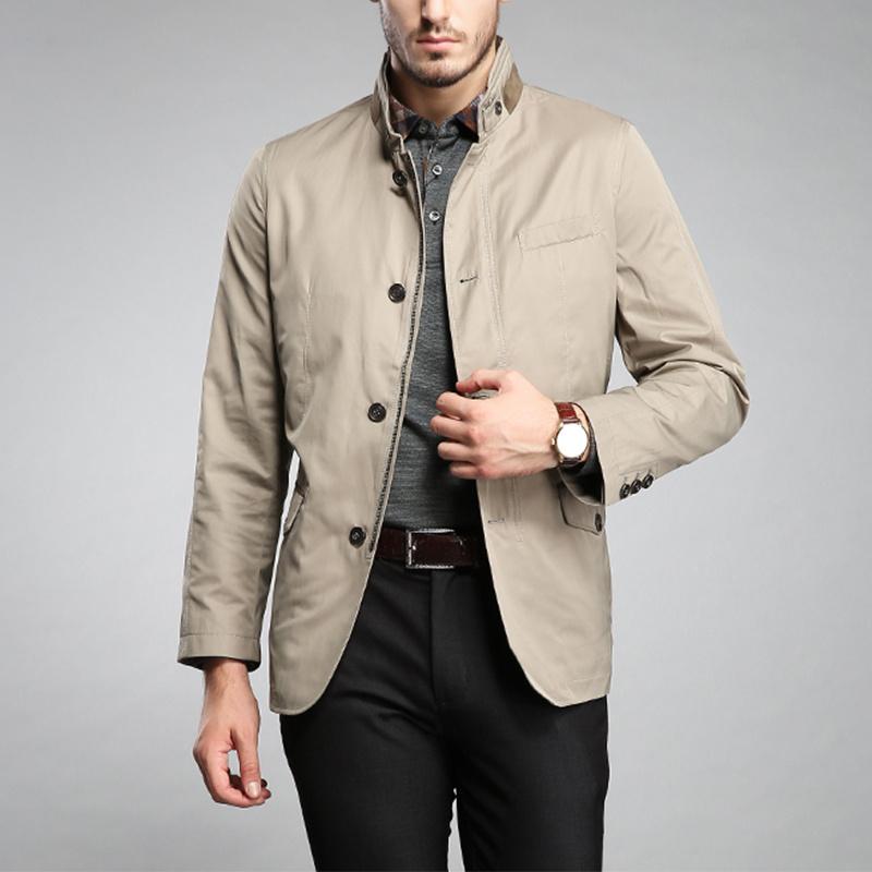 Newest Design Packets Fashion Washed Men Khaki Hooded Parka Jacket