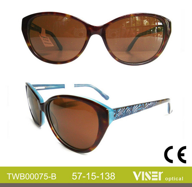 Modern Design Wholesale Fashion Sunglasses Acetate (75-B)