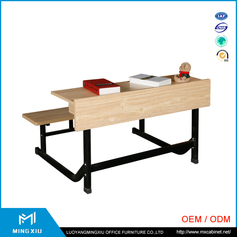 China Supplier High Quality Attached School Desks and Chair / School Desk