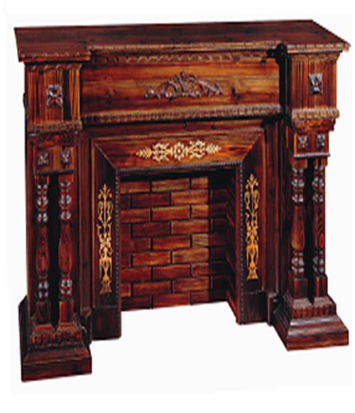 Pin chimeneas de madera decorativas lwcw08018 la chimenea - Muebles de chimenea ...