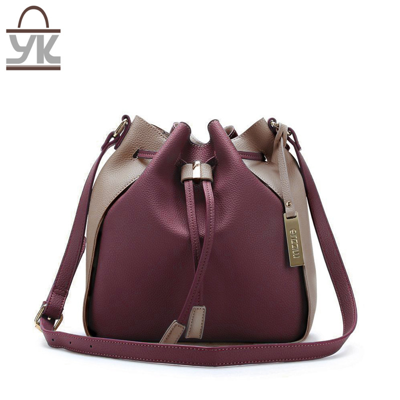 Fashion Ladies PU Leather Designer Bucket Bags