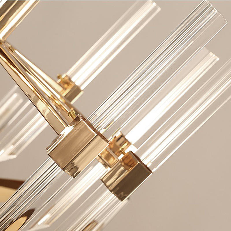 Modern Large Luxury Gold Color G9 LED K9 Crystal Chandelier