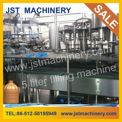 Plastic Bottle 5 L Pure Water Production / Filling Equipment Rotary Three in One