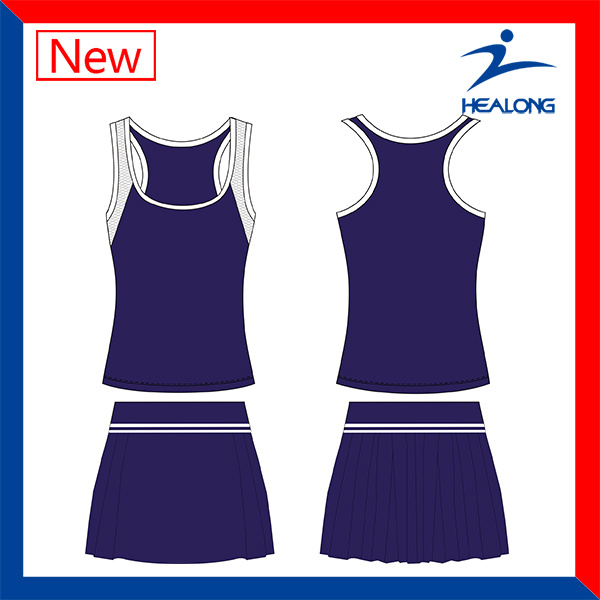 Healong Factory Price Fashion Sports Women′s Tennis Dresses