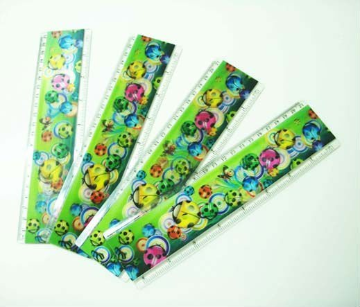 Plastic 3D Lenticular Ruler for Promotion