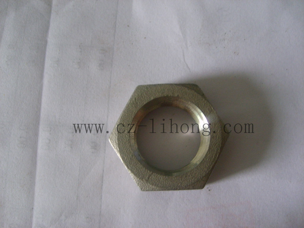 """3/8"""" Stainless Steel 316 Pipe Fitting DIN2999 Hex Nut"""