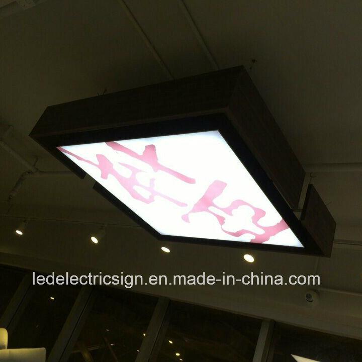Ceiling Hanging Frameless LED Strip Picture Frame Light Box