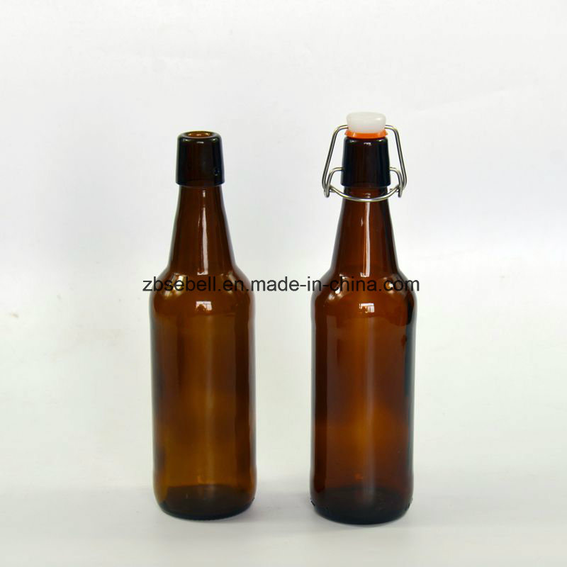 750ml Brown Color Glass Beer Bottle with Swing Top (NA-030)