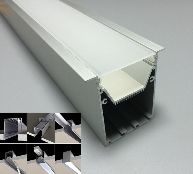 China Large Recessed Aluminum Led Strip Profile For