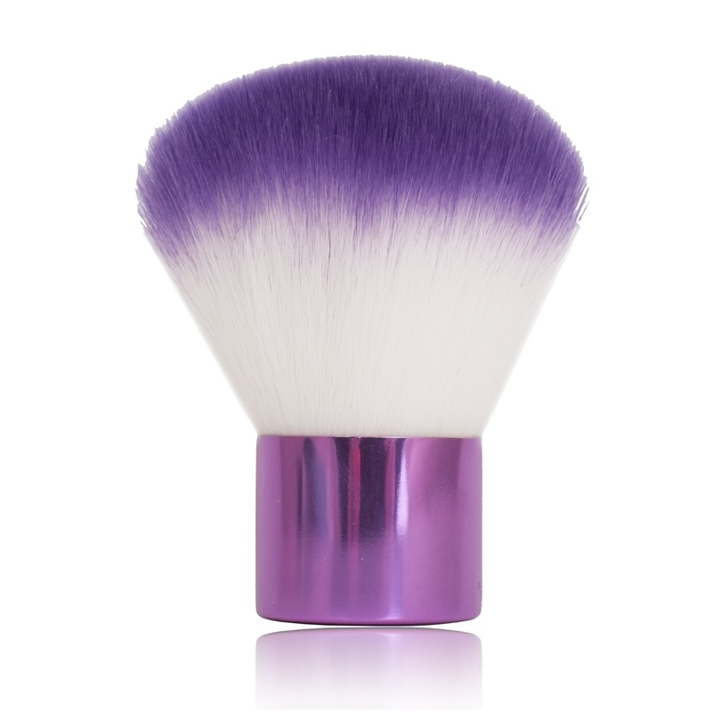 Colored Kabuki Cosmetic Makeup Brush with Synthetic Hair
