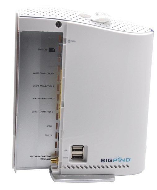 BIGPOND 3G21WB HSPA router, 3G router, wireless router, HSPA modem Tri-band HSPA+/UMTS (850 / 1900 / 2100 Mhz)
