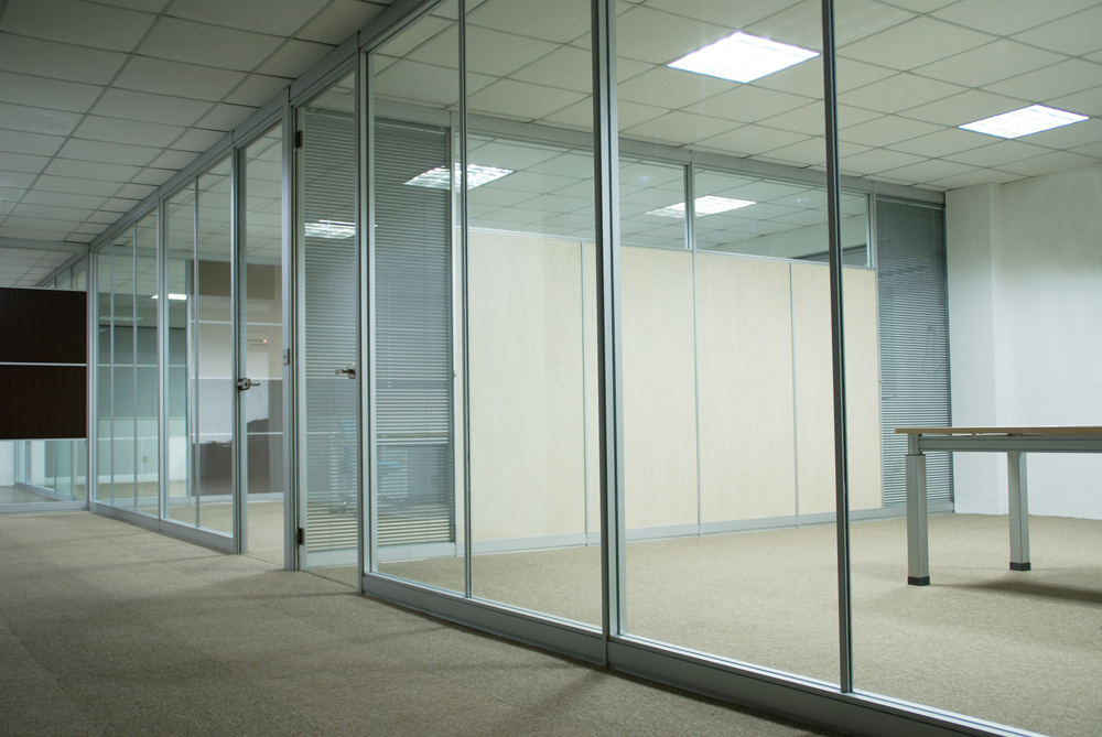 china aluminum frame office demountable glass partitions