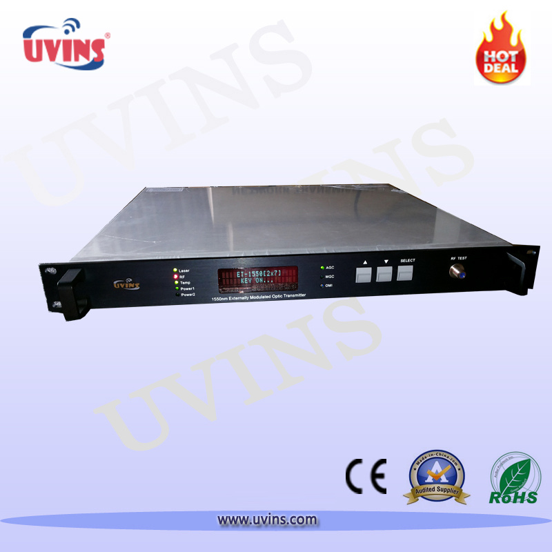 1550nm Optical Fiber Transmitter CATV External-Modulation 2 Output