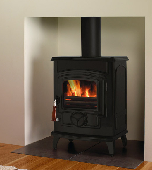 China Multi Fuel Stoves Enamel Finished Brown 629black
