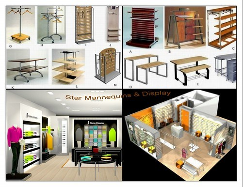 Shop Fittings & Store Fixtures of Various Kinds