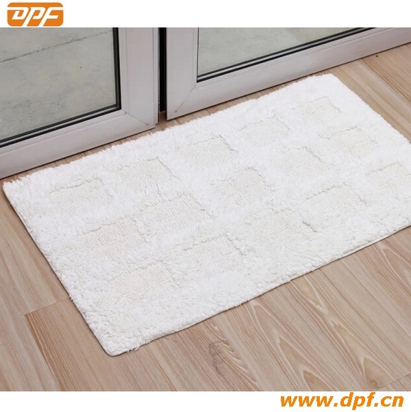 100% Cotton White Jacquard Hotel Bath Rug