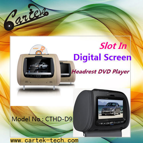 Inch Slot In Digital Screen Headrest Dvd Player