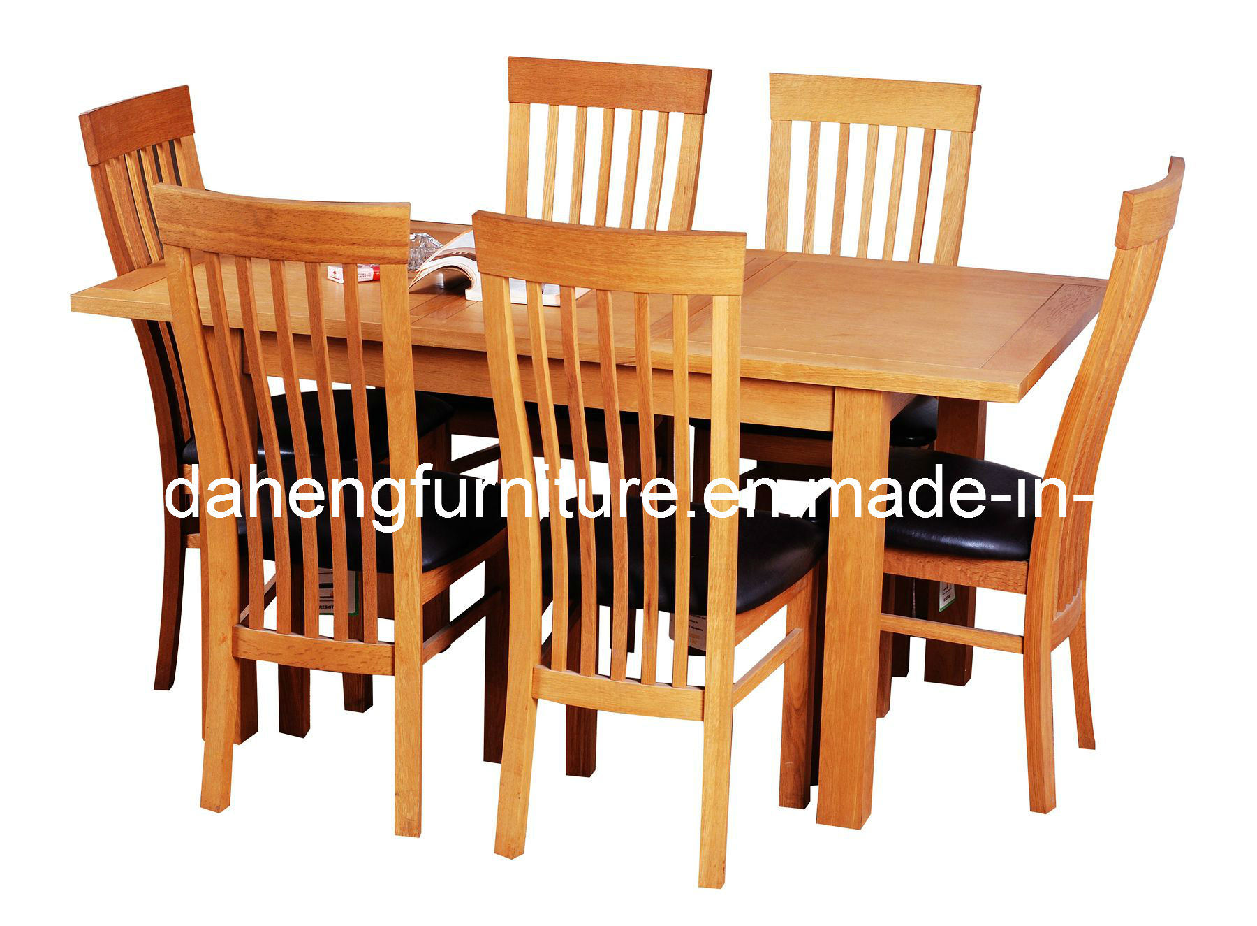 china solid oak extendable dining table set photos pictures made in. Black Bedroom Furniture Sets. Home Design Ideas