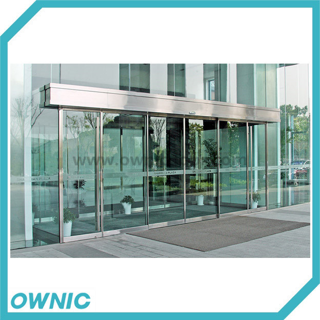 Aluminium Framed Automatic Telescopic Sliding Door, Double Open (2 fixed panels+4 sliding panels)