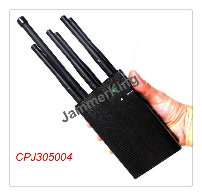 China 6 Bands Remote Controlled 433, 315, 868MHz Signal Jammer, 3W 6antenna Signal Blocker, 20meters Handheld Cellphone Jammer - China Remote Controlled Jammer, Mobile Jammer