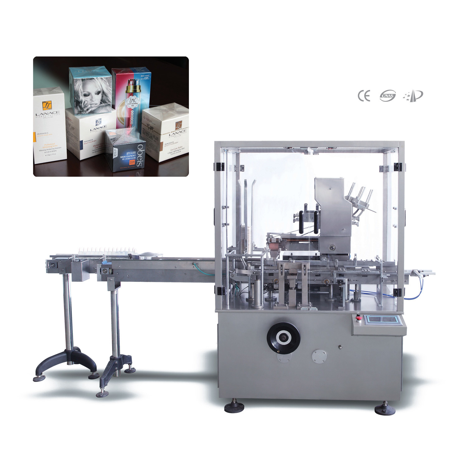 Automatic Eye Drop Plastc PE PP Bottle Cartoning Machine