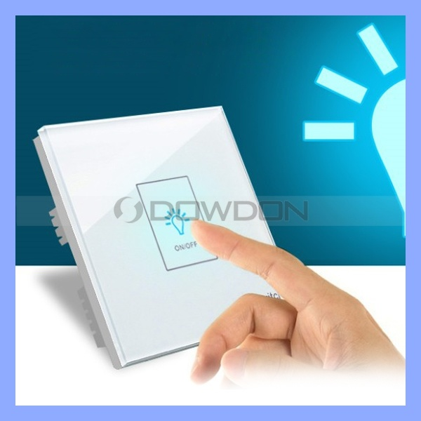 Tempered Glass Smart Switch Single Circuit Touch Wall Switch Socket
