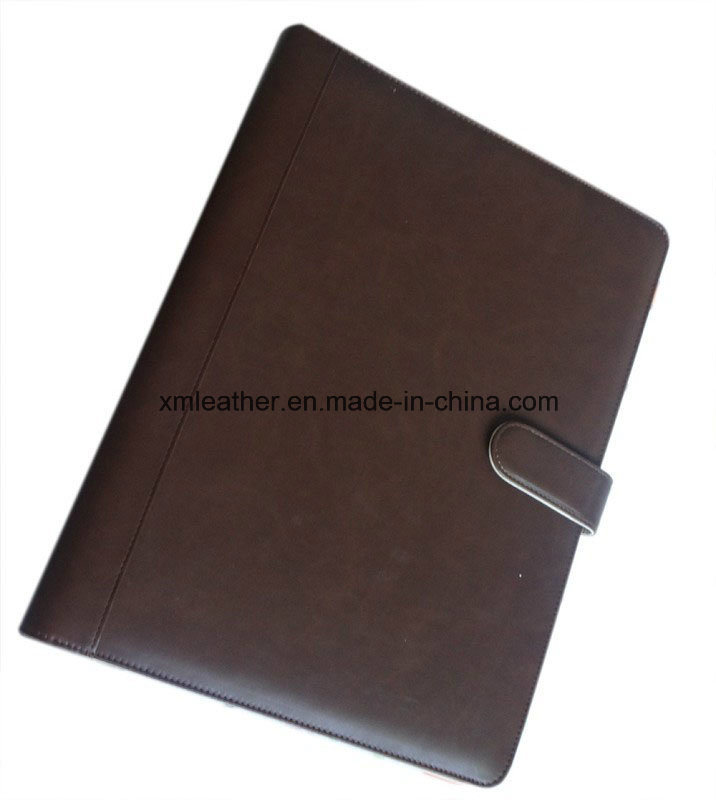 Multi-Functional A4 Faux Leather Document File Folder with Ring Binder