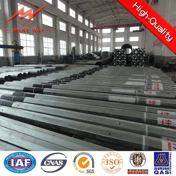 Galvanized Steel Tubular Pole for Overhead Line Project