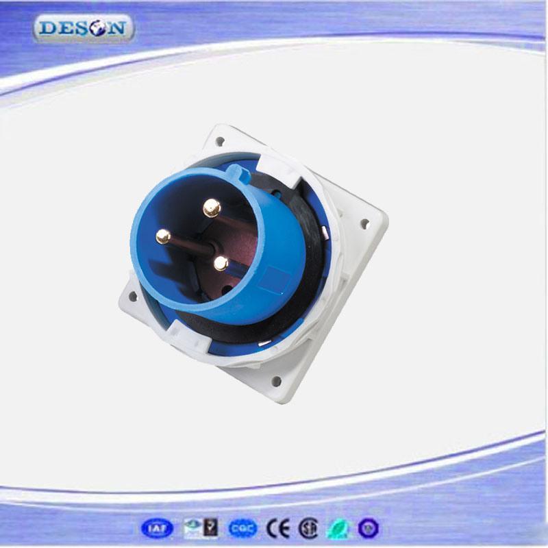 IP67 230V 3pin 63A Mennekes Power Plug