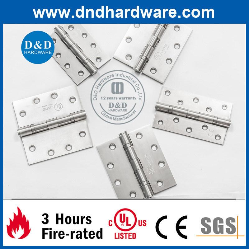 4X3X3 UL Listed 2bb Butt Hinge Ss304 for Fire Door & Metal Door