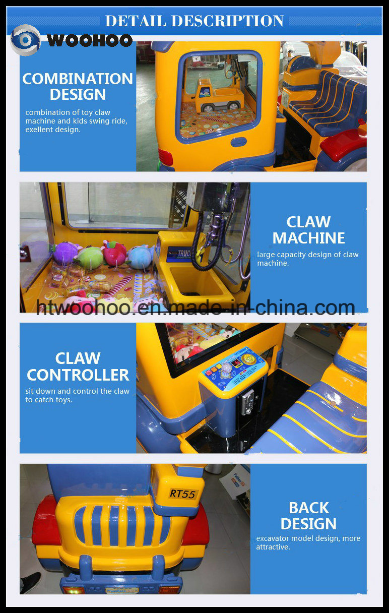 Amusement Park Candy Car Kiddie Ride Swing Ride Crane Claw Game Machine