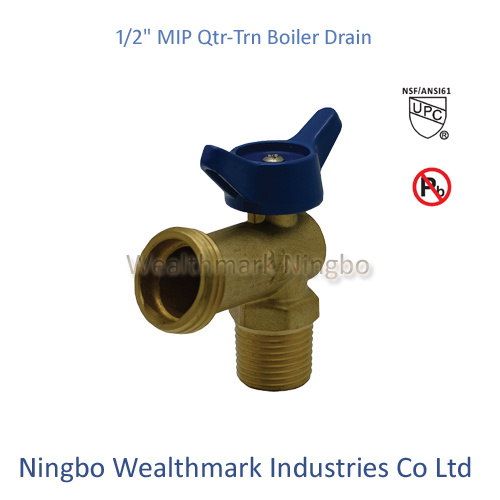 "Qtr-Trn 1/2""Mip Boiler Drain Brass Valve of Ball Type"