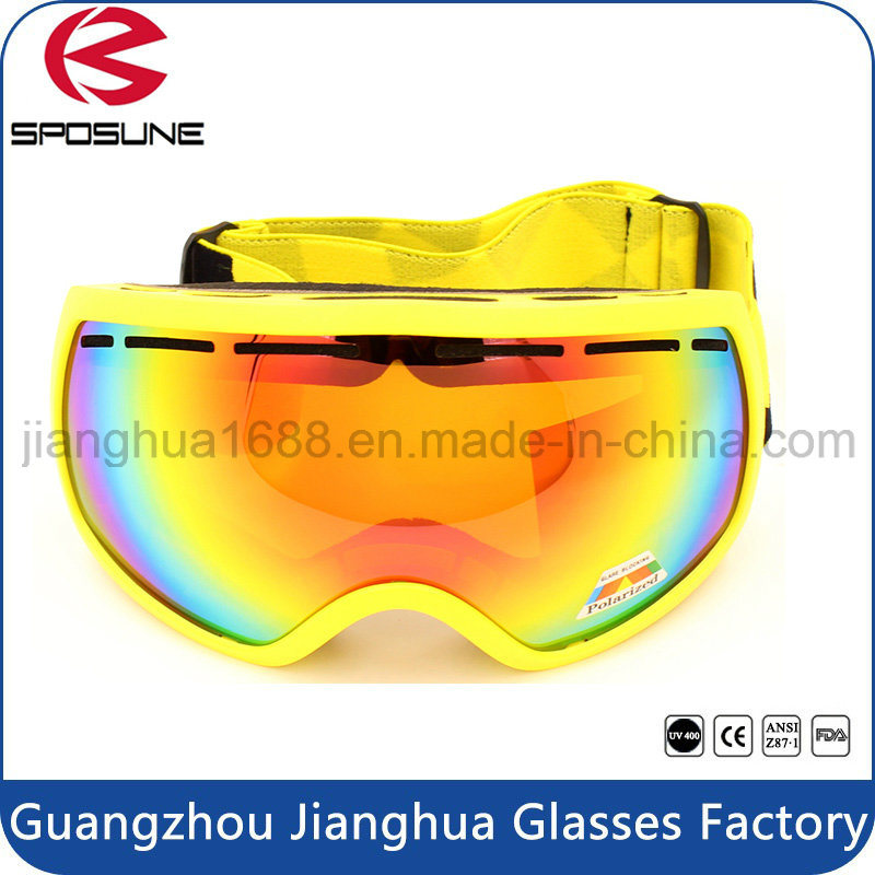 Custom Logo Brands Snowboard Racing Goggle Mens Womens Mirrored Lenses Anti UV Ski Motorcycle Safety Goggles